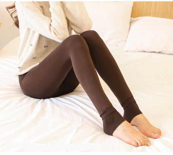 Winter Warm Thick Velvet Super Elastic Women Leggings/Pants **Seamless Skinny High Waist Stretch Ankle Length Pants **Elastic Waist Closure Smooth Fit To All Sizes
