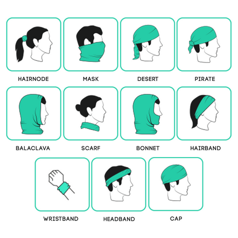 Multifuntional headwear How to's