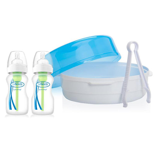 Pack Esterilizador Microondas + 2 Biberones Options 270 ml