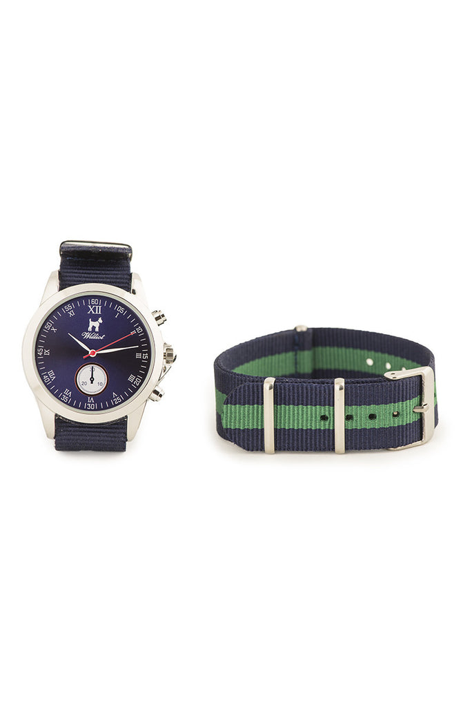 Marine Watch With Blue and Green Stripe Adjustable Strap REL 0004