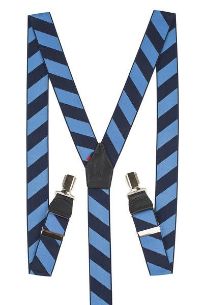 Blue And Navy Stripe Trousers Braces