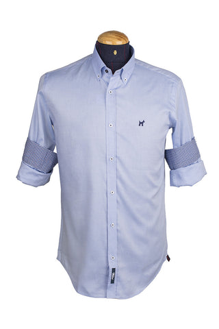 Light Blue Formal Oxford Long Sleeve Shirt
