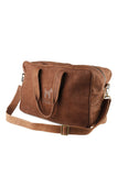 Brown Leather Weekend Bag