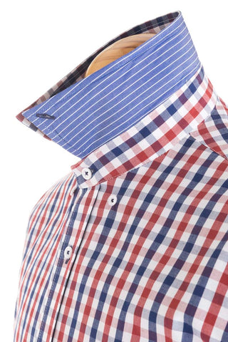 Pure Cotton Tri Colour Checked Shirt - CAM 0030