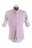 Pure Cotton Tri Colour Checked Shirt
