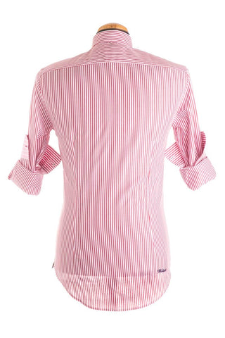 Pure Cotton Red And White Striped Shirt Long Sleeve