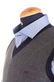 Grey / Blue Wool Vest