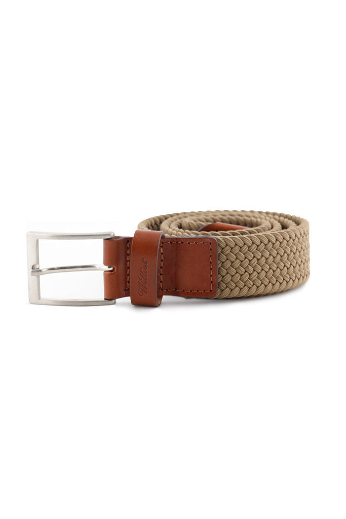 Brown Leather Braided Belt CIN 0010