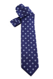 Royal Blue Diamond Print Tie COR 0008