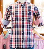 Blue And Red Bold Checked Shirt