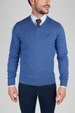 V Neck Blue Jumper
