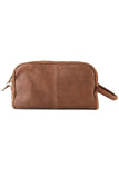 Brown Leather Toiletries Bag