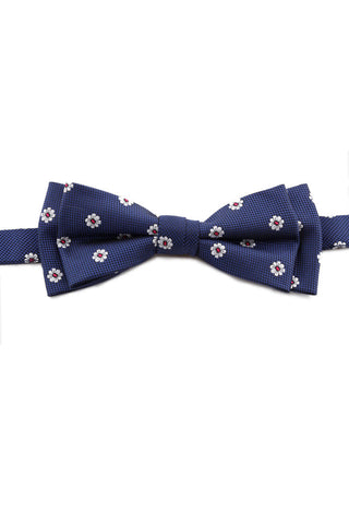 Marine Blue Circle Design Bow Tie PAJ 0009