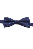 Marine Blue and Turquoise Spotty Bow Tie PAJ 0009