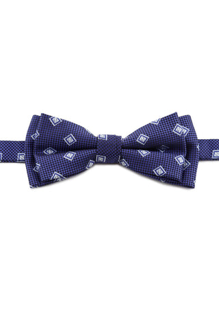 Navy Square Design Bow Tie PAJ 0009