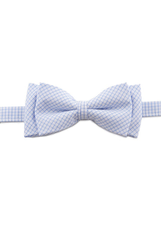 Light Blue And White Print Bow Tie PAJ 0012