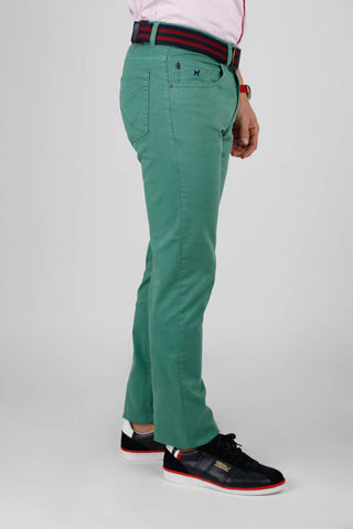 Green Slim Cut Chinos