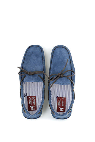 Light Blue Suede Loafers