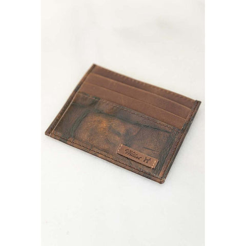 Chocolate Tan Credit Card Case