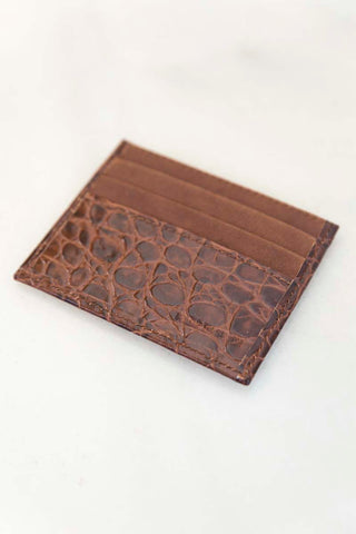 Chocolate Snake Print Credit Card Case