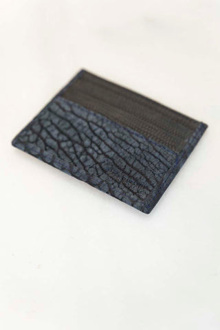 Midnight Blue Suede Credit Card Case