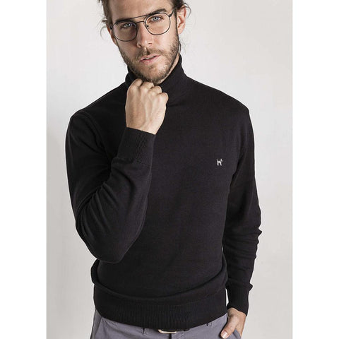 Roll-Neck Black Jumper
