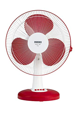 Usha Mist Air ICY 400mm Table Fan (Red)
