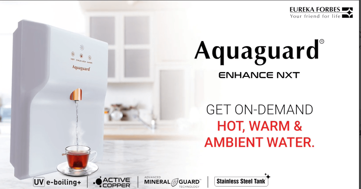 Aquaguard Enhance NXT UV+ Hot Water Purifier - KITCHEN MART