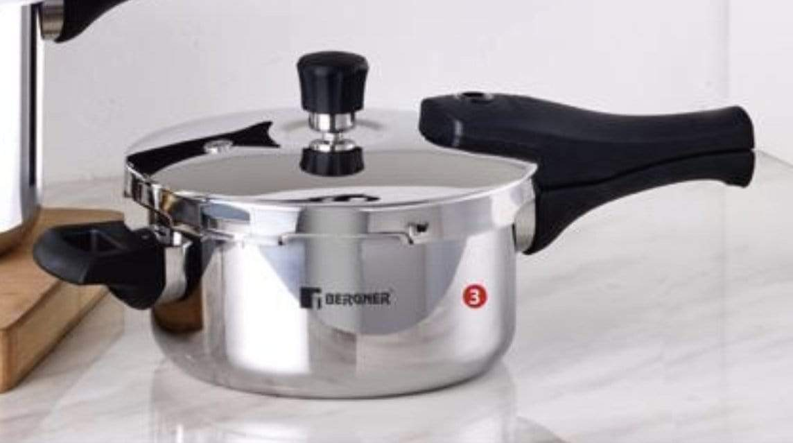 Bergner Triply Pressure Cooker Argent Elements - KITCHEN MART
