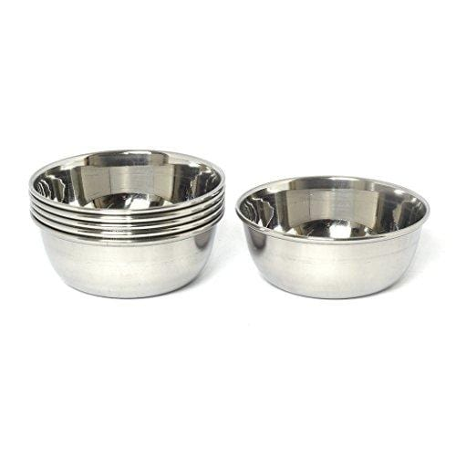 Embassy Vinod Vati/Curry Bowl, Size 2, 125 ml, 9.3 cms (Pack of 6, Stainless Steel) - KITCHEN MART