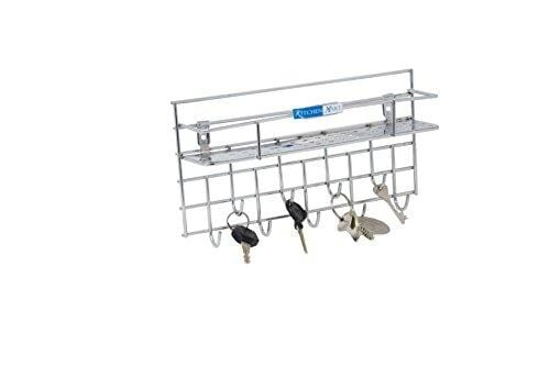 Kitchen Mart Key holder / Laddle Holder with single rack, Wall Mount, Stainless Steel (Pack of 1) - KITCHEN MART