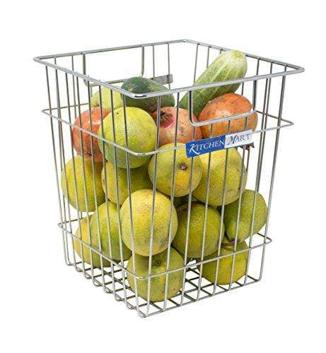 Kitchen Mart Stainless steel Dust Bin / fruit and vegetable basket / Multipurpose Basket, (LxBxH: 25x25x30 cms) - KITCHEN MART