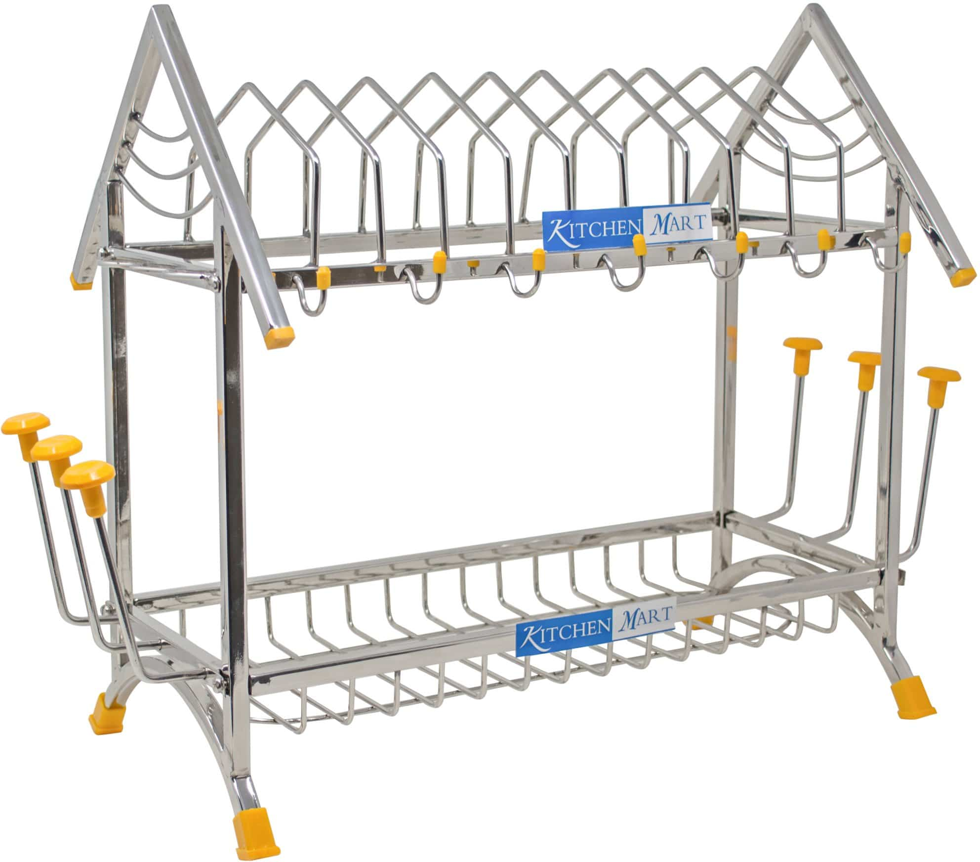 Kitchen Mart Stainless Steel Happy Home Kitchen Rack - KITCHEN MART