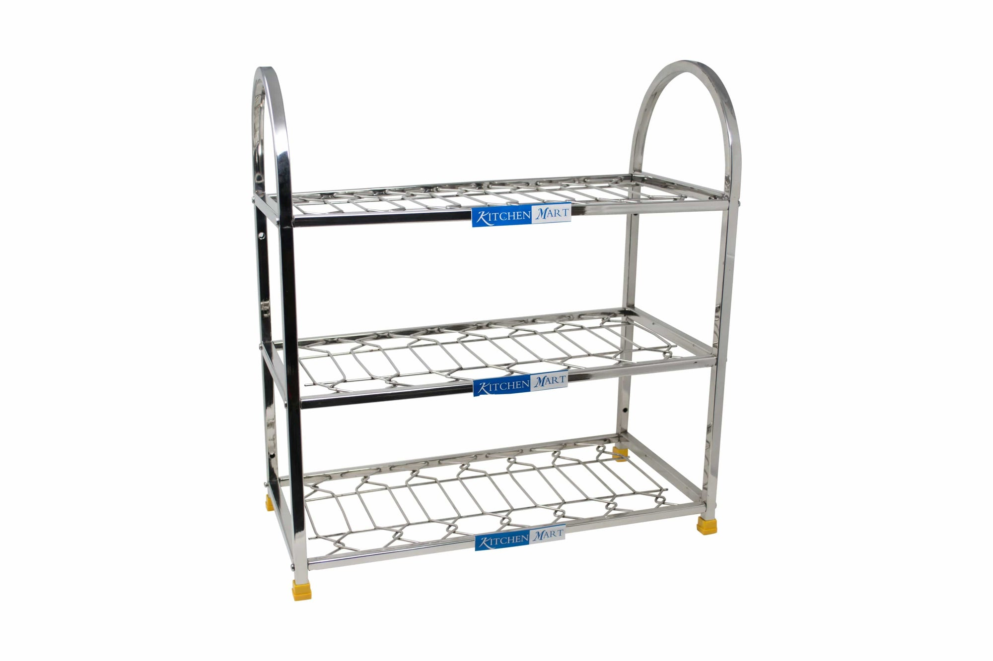 Kitchen Mart Stainless Steel shoe rack / Kitchen Storage shelf rack (18 x 3) - KITCHEN MART