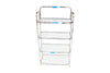 Kitchen Mart Stainless Steel shoe rack / Kitchen Storage shelf rack (18 x 4) - KITCHEN MART