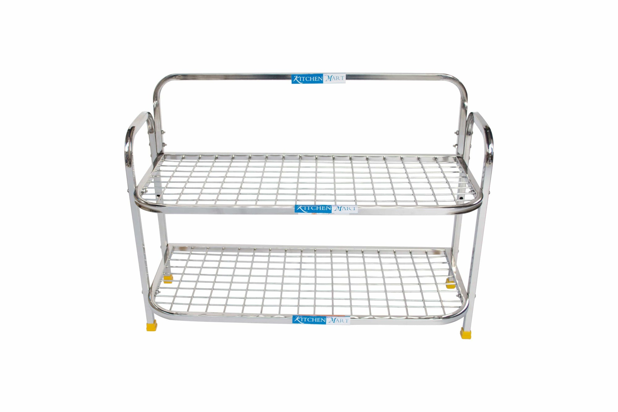 Kitchen Mart Stainless Steel shoe rack/ Kitchen Storage shelf rack (24x2) - KITCHEN MART
