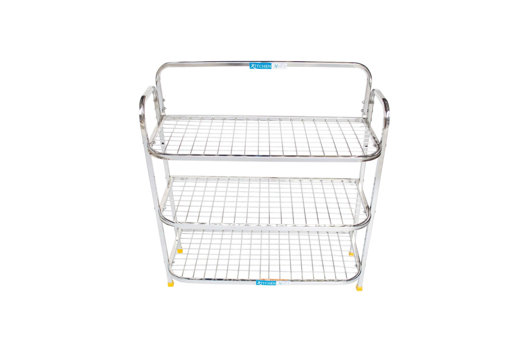 Kitchen Mart Stainless Steel shoe rack/ Kitchen Storage shelf rack (24x3) - KITCHEN MART