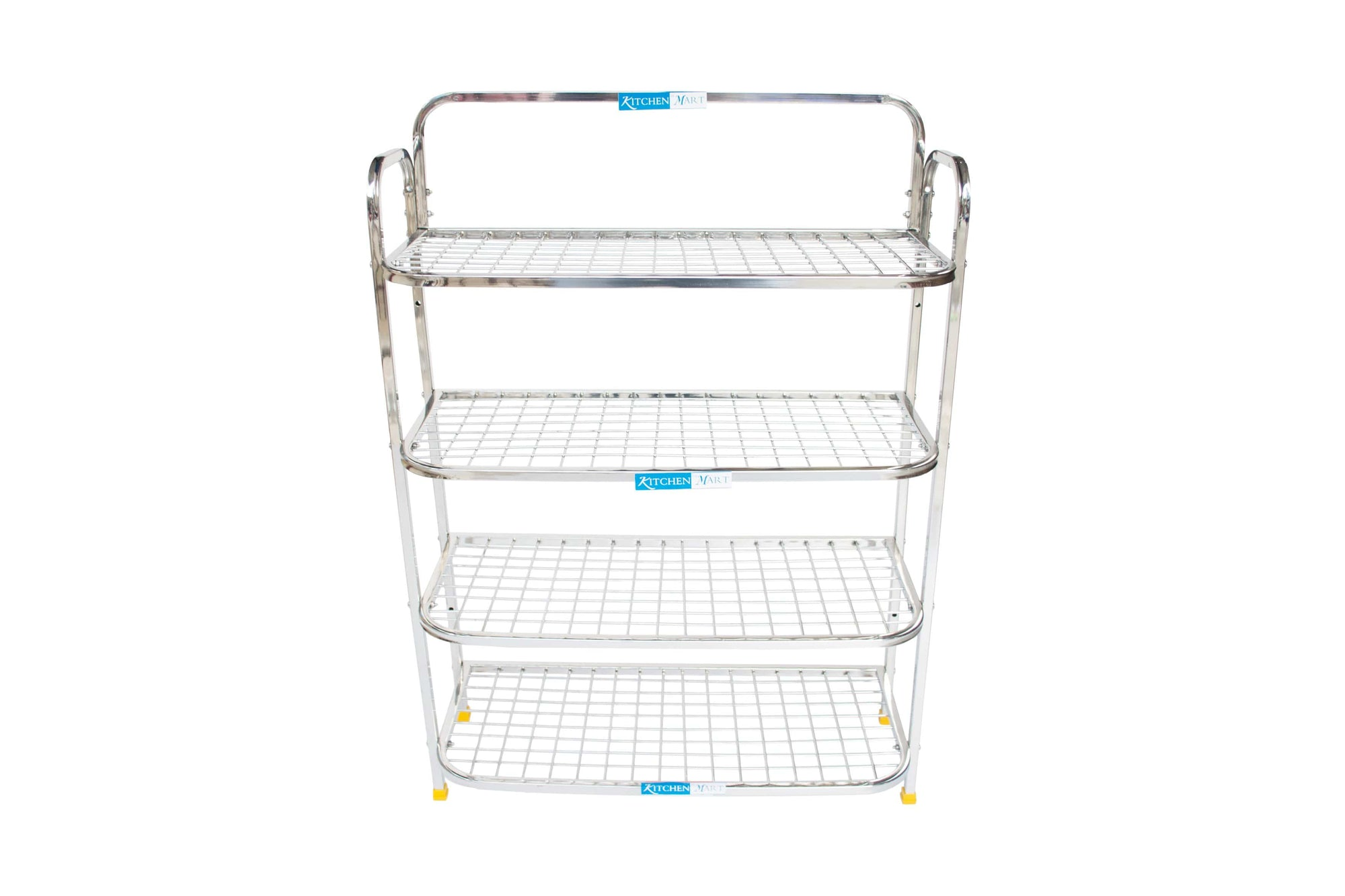 Kitchen Mart Stainless Steel shoe rack/ Kitchen Storage shelf rack (30x4) - KITCHEN MART