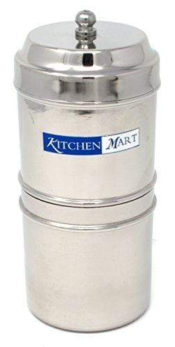 Kitchen Mart Stainless Steel South Indian Filter Coffee Drip Maker (2 Cup) 708747457674