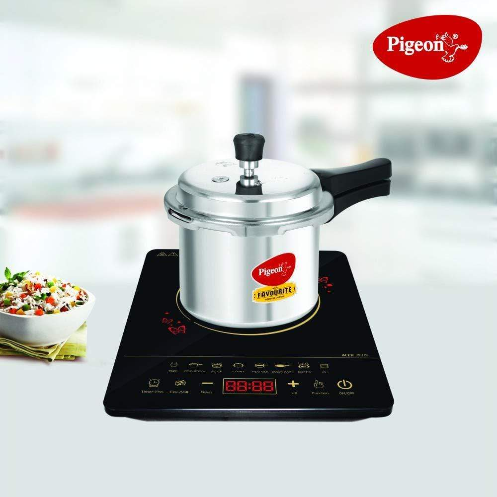 Pigeon 2020 Combo Offers - Acer Plus Induction + Favourite 3 Liters Induction base pressure cooker - KITCHEN MART