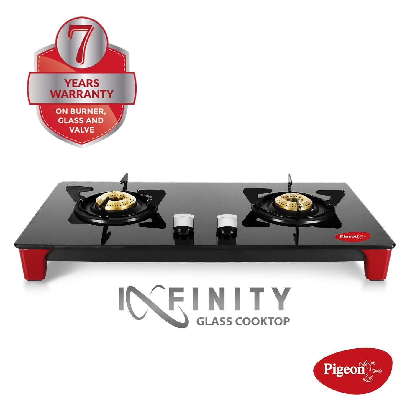Pigeon by Stovekraft Infinity 2 Burner LPG Gas Stove - KITCHEN MART