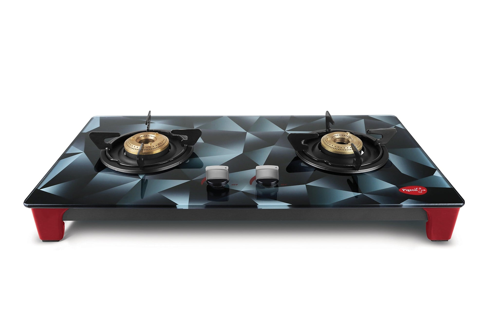 Pigeon by Stovekraft Infinity Stealth 2 Burner LPG Stove - KITCHEN MART