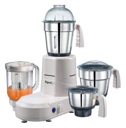 Pigeon Splendour JX 750-Watt Mixer Grinder (4 Jars) - KITCHEN MART