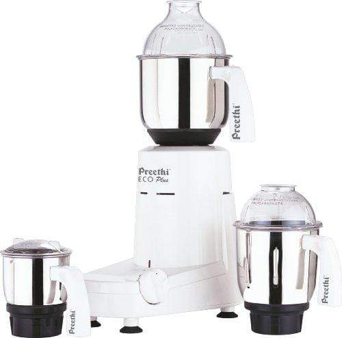 Preethi Eco Plus 550-Watt Mixer Grinder (110volts for use in USA and Canada) - KITCHEN MART