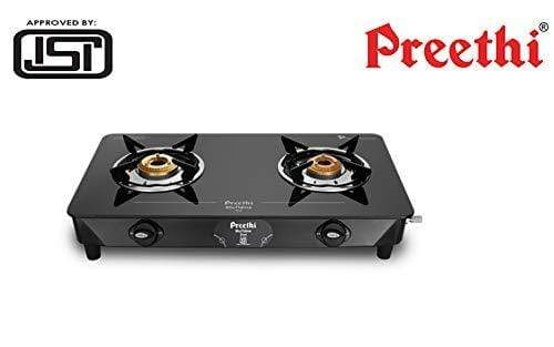 Preethi Zeal Glass 2 Burner Gas Stove (ISI Approved) - KITCHEN MART