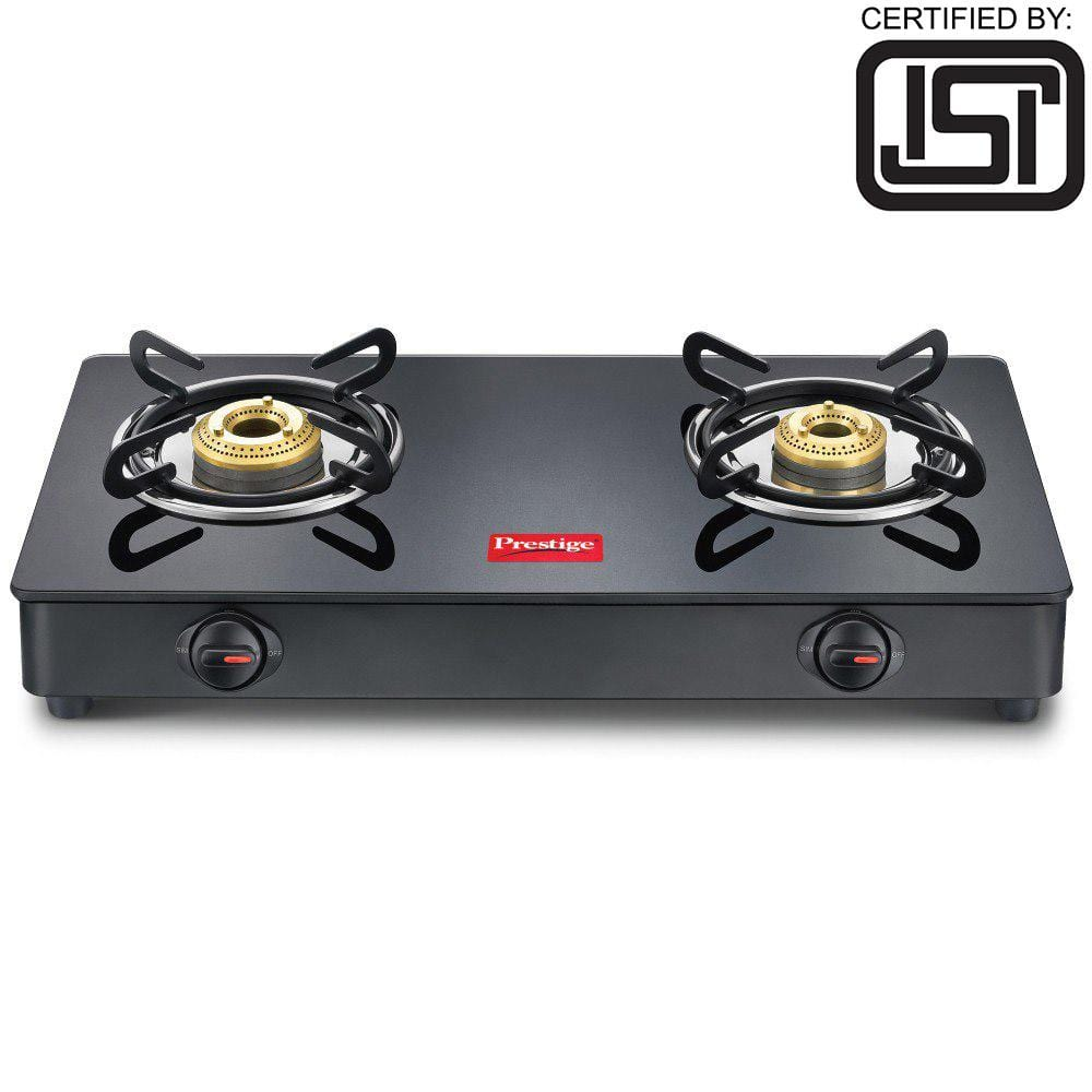 Prestige Magic Glass Top GTMC 02, Manual Gas Stove  (2 Burners), ISI Certified - KITCHEN MART