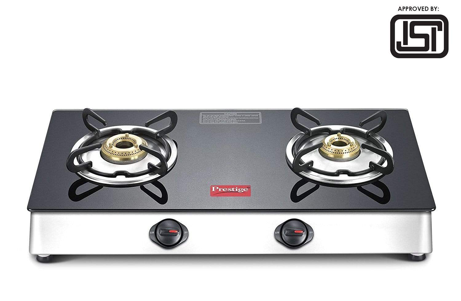 Prestige Marvel Plus Stainless Steel 2 Burner Gas Stove (GTM 02 SS) (ISI Certified) - KITCHEN MART