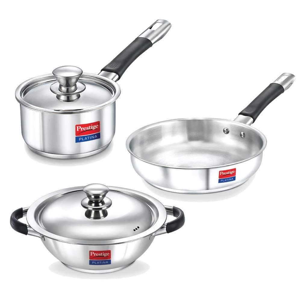 Prestige Platina Stainless Steel Casserole With Lid 8901365360476