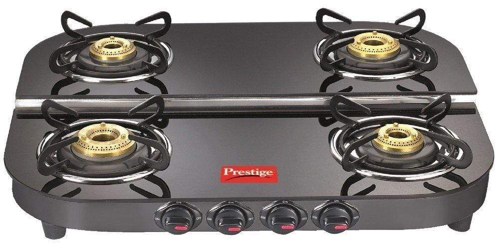 Prestige Royale Plus Schott Duplex Glass 4 Burner Gas Stove, DGT 04 - KITCHEN MART