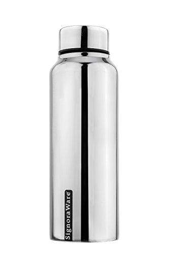 Signoraware Aqua Stainless Steel Water Bottle, 750ml/30mm, Silver B079W44F4G